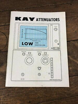 Kay Attenuators In-line Instruction Manual