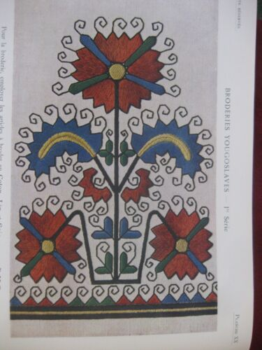 Folk Motifs Yugoslavia Patterns Embroidery Book Embroderies Yougoslaves 1925