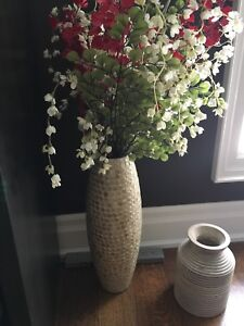 Pier 1 imports large floor vase with fake flowers