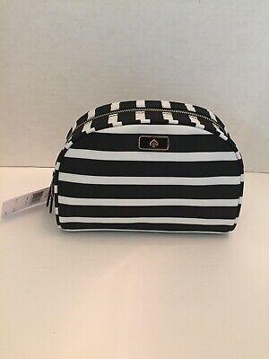 NWT Kate Spade Medium Dome Dawn Sailing Stripe Cosmetic/Makeup Bag Case