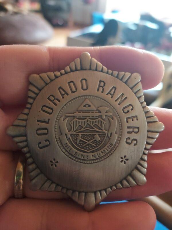 Colorado Rangers Badge, Old West, Western,