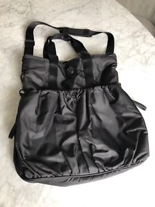 Lululemon Tote / Yoga / Gym / Diaper Bag - Black