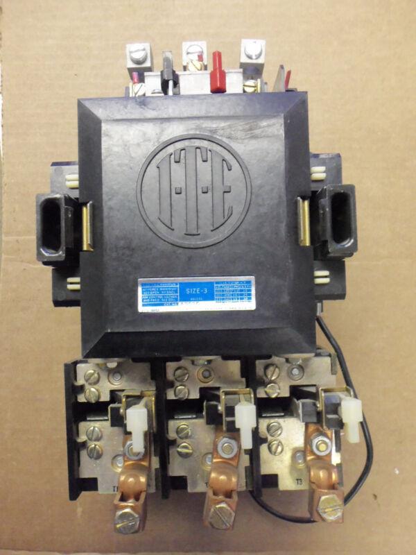 ITE Siemens A203E Nema Size 3 Motor Starter 3 Phase 600v 90 Amp 50HP 120v Coil