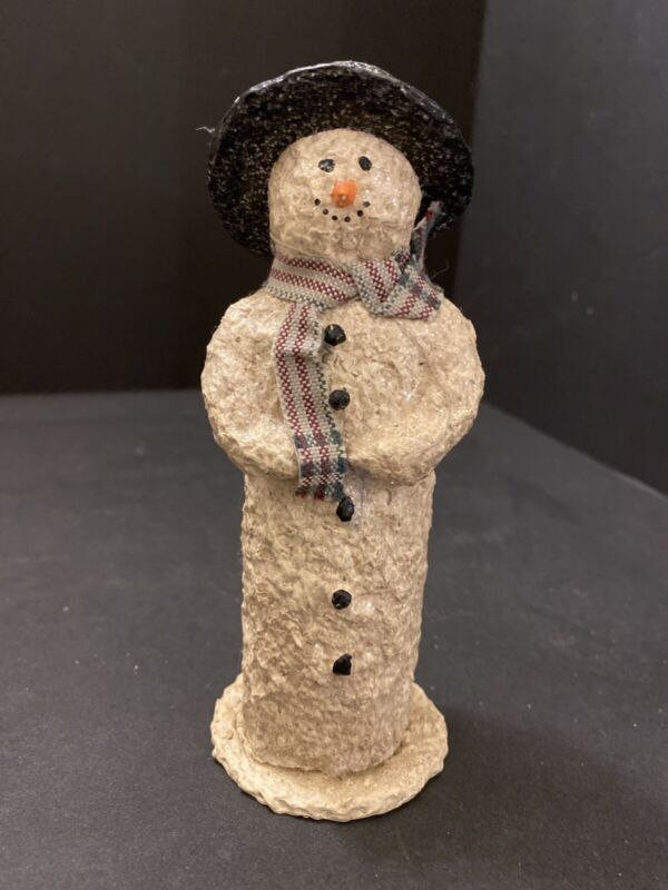VINTAGE SNOWSNICKLE SNOWMAN CANDY CONTAINER