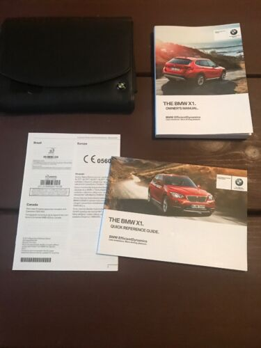 2013 BMW X1 Owners Manual With Case OEM Free Shipping