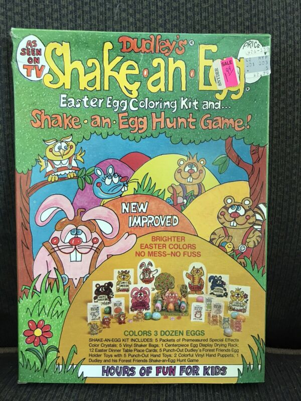 Vintage Dudley's Shake An Egg Easter Color Dye Kit Set NOS In Box AS SEEN ON TV