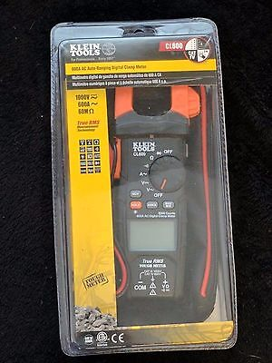 Klein Tools Cl600 Ac Auto-ranging 600 Amp Digital Clamp Meter New