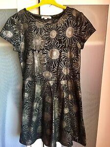 Blue Zoo Black Metallic Dress & Leggings Set Dress Age 8 NWOT Free P&P