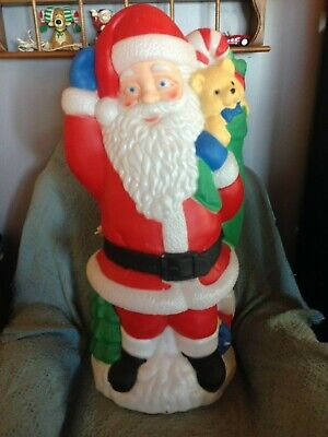 "VNTG CHRISTMAS 1996 SANTA'S BEST 42"" SANTA CLAUS BLOW MOLD W/LIGHT CORD #2"