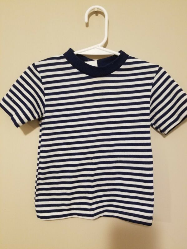 Vintage 1980s Sears Striped Ringer T Shirt Toddler 4T 50/50