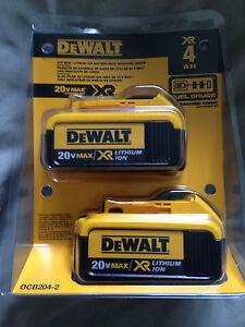 DeWalt 20V Max XR 4.0Ah - Double Pack