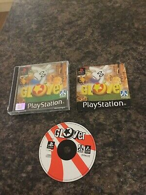 Rare Atari Playstation One Game Glover Complete