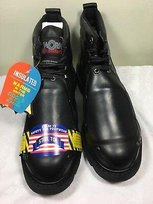 Black Comfort Steel Toe Boots ( MENS WORK N COMFORT METATARSAL WORK BOOTS STEEL TOE 4