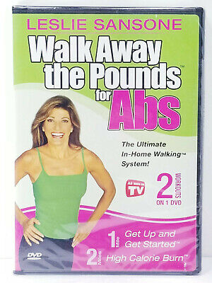 Leslie Sansone Walk Away The Pounds For Abs 2 Workouts on 1 DVD NEW