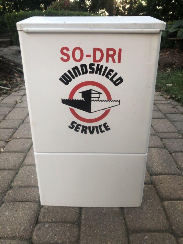 Vintage Original SO-DRI Service Station Windshield Gas Oil Tire Island Sign NOS?