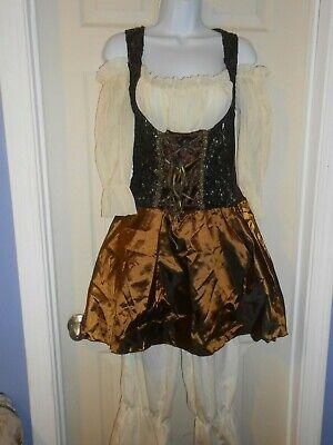 Steampunk Pantaloons Dress Belt a&Arm Covers Pirate Maiden Oktoberfest Costume
