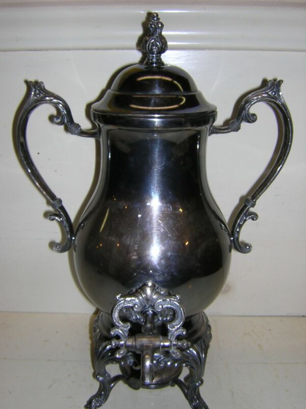 antique f b rogers 1883/2354 silver coffee urn, complete, good condition