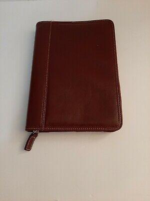 Vintage Franklin Covey Dark Red Classic 7 Rings Zipper Planner Organizer Binder