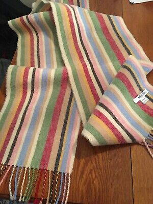 Lovely Pure Lambswool Johnstones of Elgin Striped Scarf