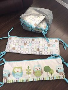 Crib bumper pads and car seat cover