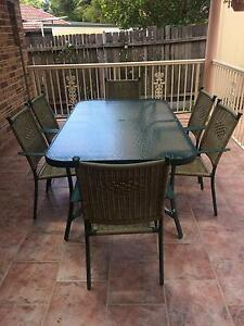 Out Door Aluiminum &Wicker Dining Table & Chairs Bexley North Rockdale Area Preview