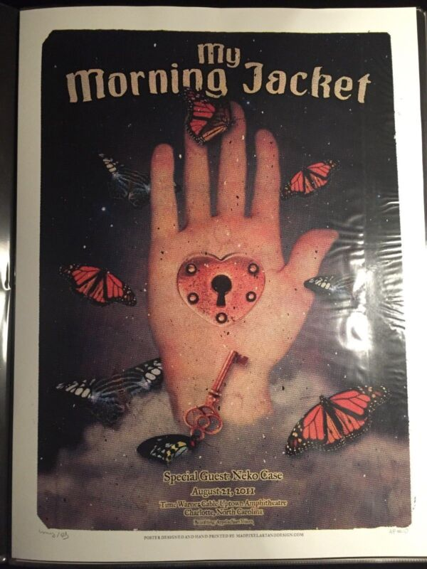 My Morning Jacket Poster - Charlotte - Screen Print - 8/21/11 - Sold Out AP