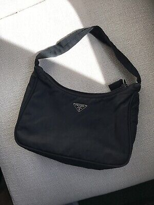 Authentic PRADA Black Nylon TESSUTO Bag