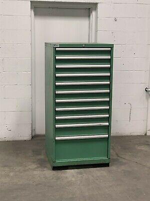 Used Lista 11 Drawer Cabinet Industrial Tool Shop Storage 2211 Vidmar
