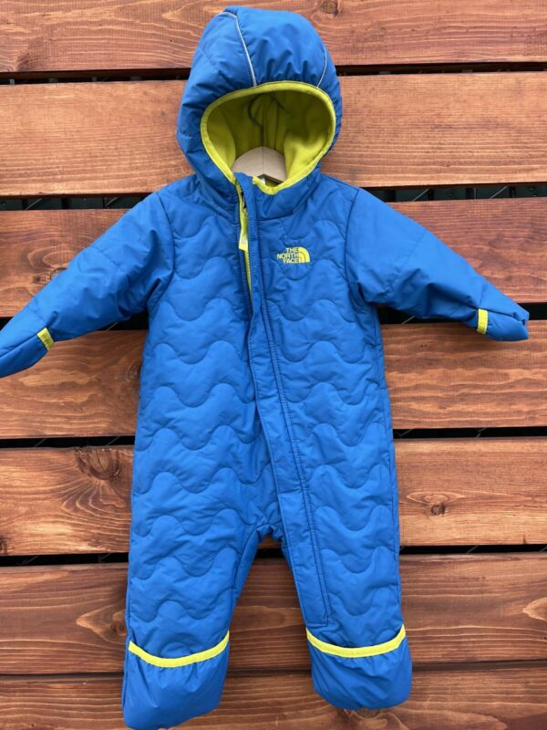 The North Face Baby Boys Snuggle Down Snowsuit Bunting Jacket 6-12 Blue