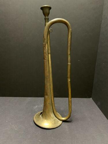 Antique George Potter Aldershot BUGLE Brass UK Military Horn All Original