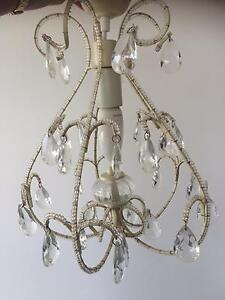 French provincial cream / crystal chandelier Aspley Brisbane North East Preview