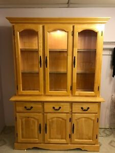Classic Solid Pine Buffet and Hutch