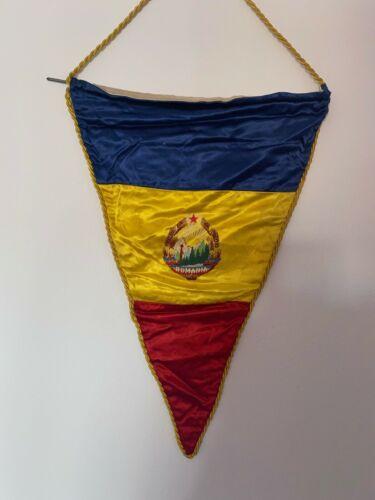 SOCIALIST ROMANIA PENNANT banner flag SMALL