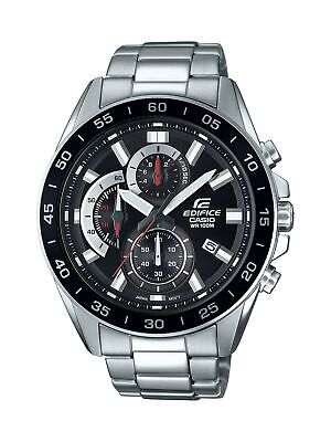 Casio Men's Edifice Quartz Stainless Steel Black Dial Watch EFV-550D-1AV