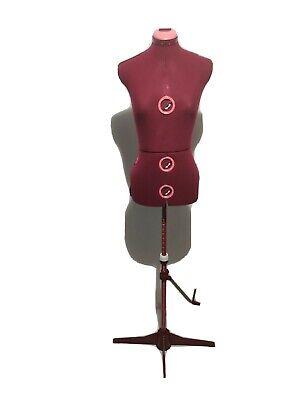 Kwik-fit Dress Form Fashion Design Mannequin Adjustable Sm - Lg Woman Wine Pc