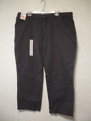 St John's Bay Men's Legacy Chino Straight Fit Flat Front Navy Pants 42 X 30 -