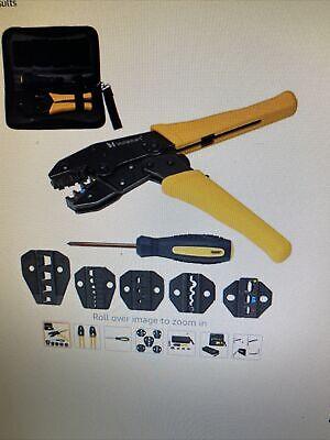 Voilamart 0.5-35mm Cable Crimper Tool Wire Terminal Ratchet Plier Crimping Set