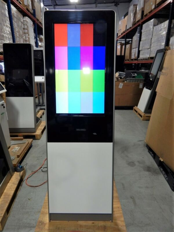 """Vertical Retail Self Service Kiosk Enclosure with 32"""" LCD Touchscreen Monitor"""