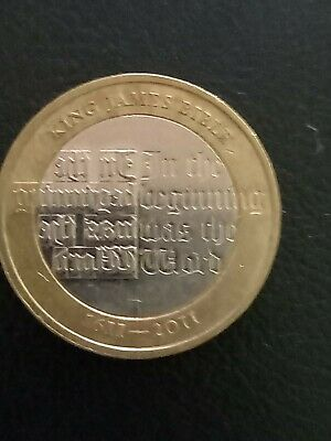 1611-2011 CIRCULATED KING JAMES BIBLE £2 TWO POUND COIN