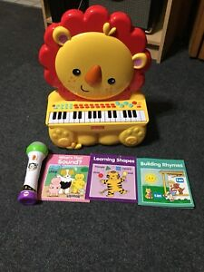 Fisher price toys and book lot.