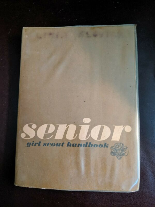 Vintage 1963 Edition of: Senior Girl Scout Handbook