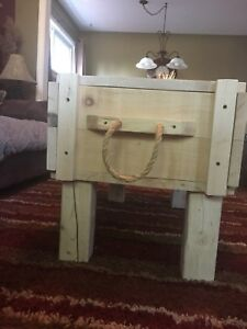 Crate style coffee table