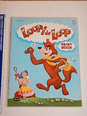1960 HANNA BARBERA LOOPY DE LOOP COLORING BOOK  HIGH GRADE UNUSED