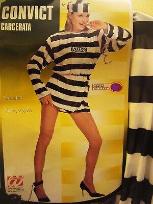 Sexy Kostüm Sträfling Sträflingsfrau Gefangene Sträflingskostüm Gr. M  NEU - Gefangener Sexy Kostüm