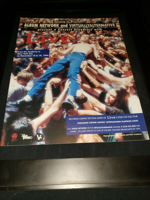 Live Pain Live At The Academy NYC Rare Original Radio Promo Poster Ad Framed!