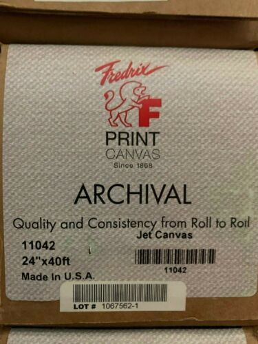 "FREDRIX CANVAS - 901 INKJET CANVAS 50 POLYFLAX / 50 COTTON 18 MIL. 24""X40FT"