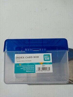 Universal Plastic Index Card Boxes 3 X 5 Translucent Black for sale online
