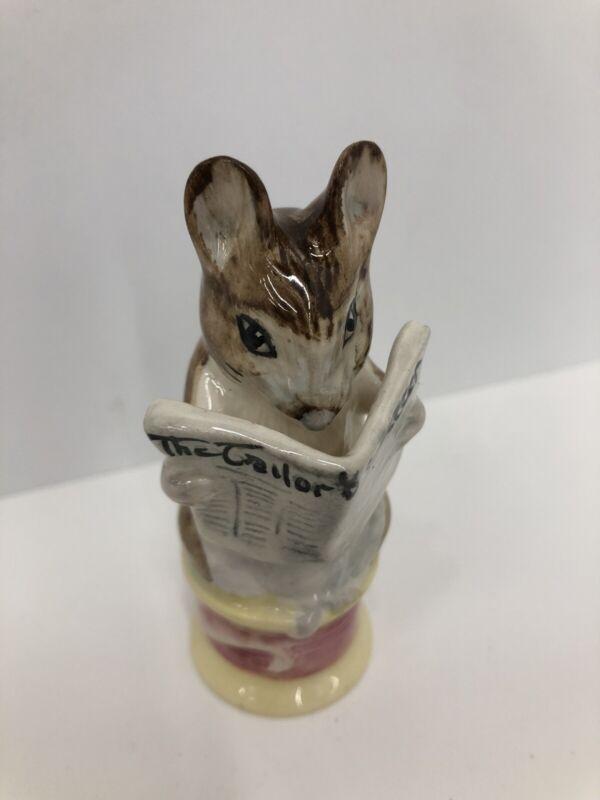 Beswick/Beatrix Potter Figurine/The Tailor & Cutter/ Gloucester Mouse BP-2