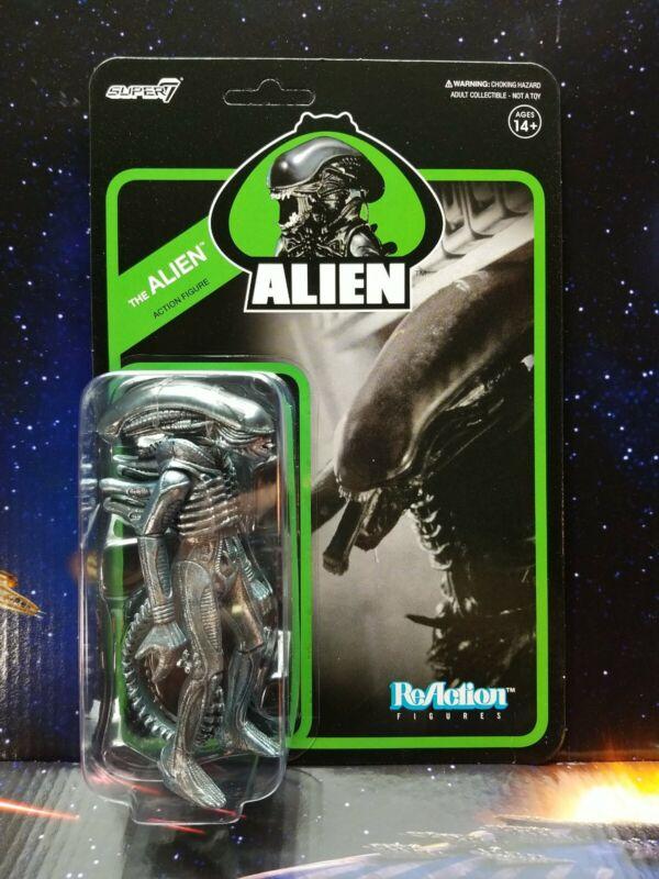 "Super 7. Alien Xenomorph The Alien 4"" ReAction Figure. NM to Mint Package. New"