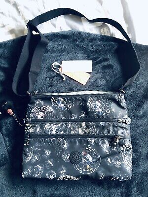 ❤️ Kipling ALVAR Shoulder Bag Across Body - Disco Ball Print With Monkey.
